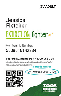 Member Card with barcode example - new